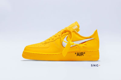 Air Force 1 Low Off-White University Gold Metallic Silver